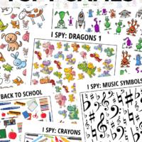 100+ Printable I Spy Games for Kids