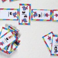 Printable Superhero Domino