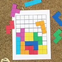 Printable Tetris Game