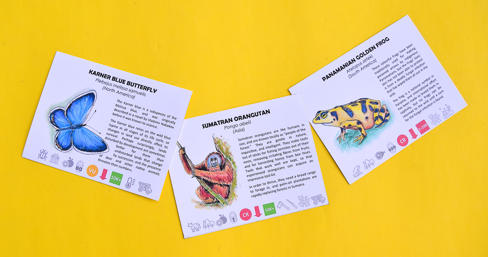 Endangered Animals Game Cards