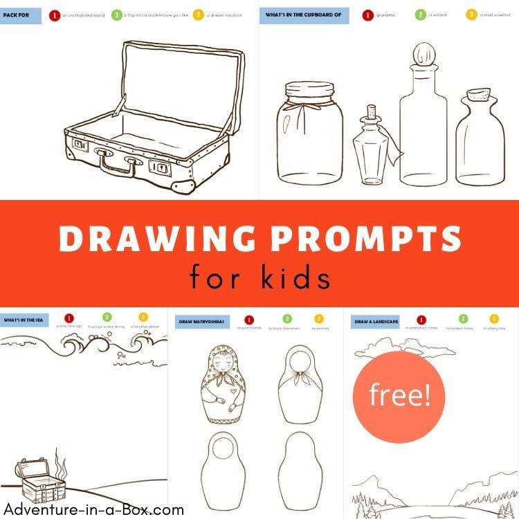 10 Free Printable Drawing Prompts