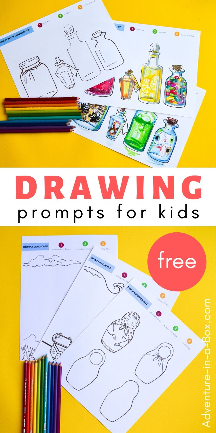 10 Free Printable Drawing Prompts for Kids