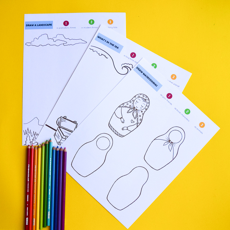 Try drawing something new with free printable drawing prompts!