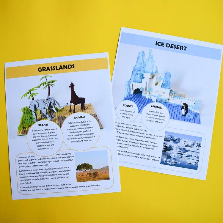 LEGO Habitat Printable Pack