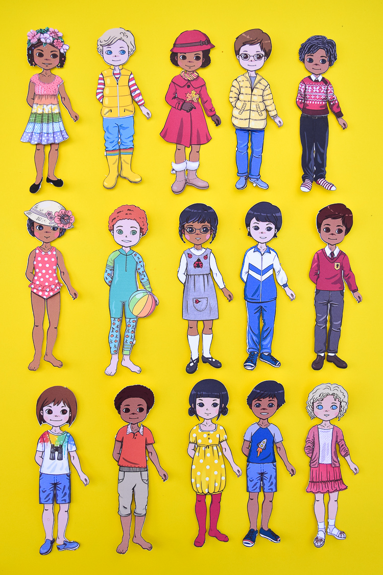 Diverse Paper Dolls Dolls Free Printable Templates Adventure In A Box
