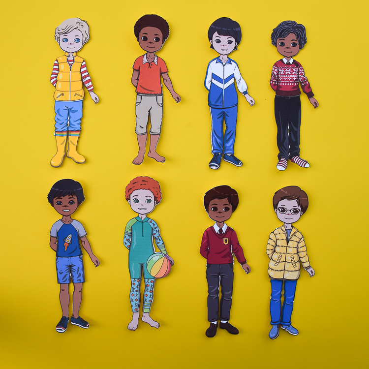 New Paper Dolls Boys