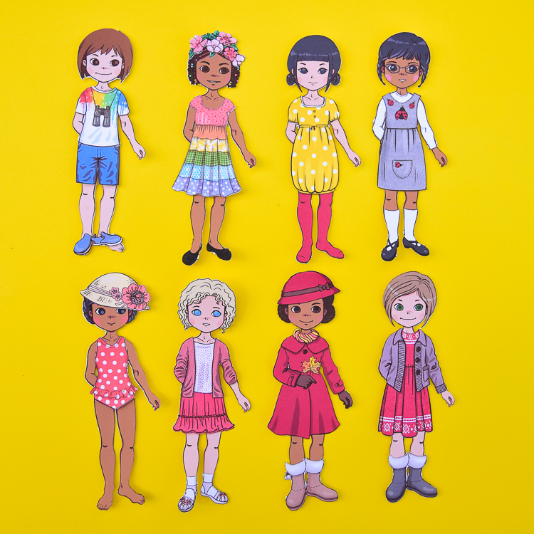 New Paper Dolls Girls