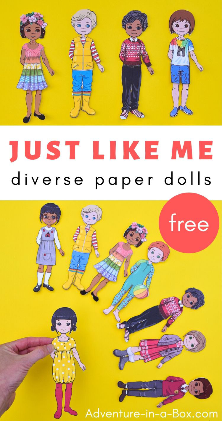 Just Like Me Diverse Paper Dolls