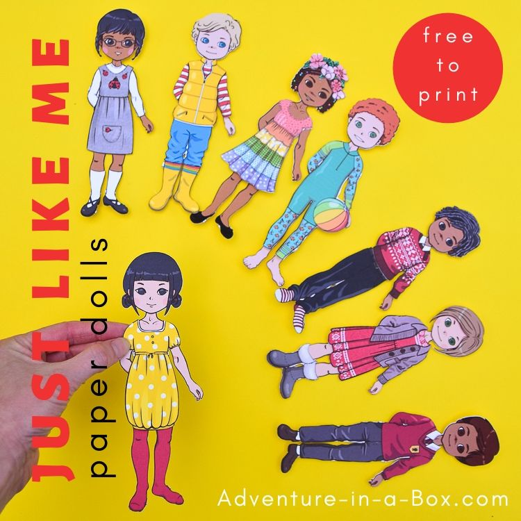 Just Like Me Paper Dolls