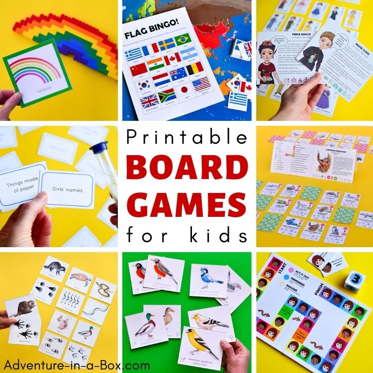 Printable Board Games for Kids