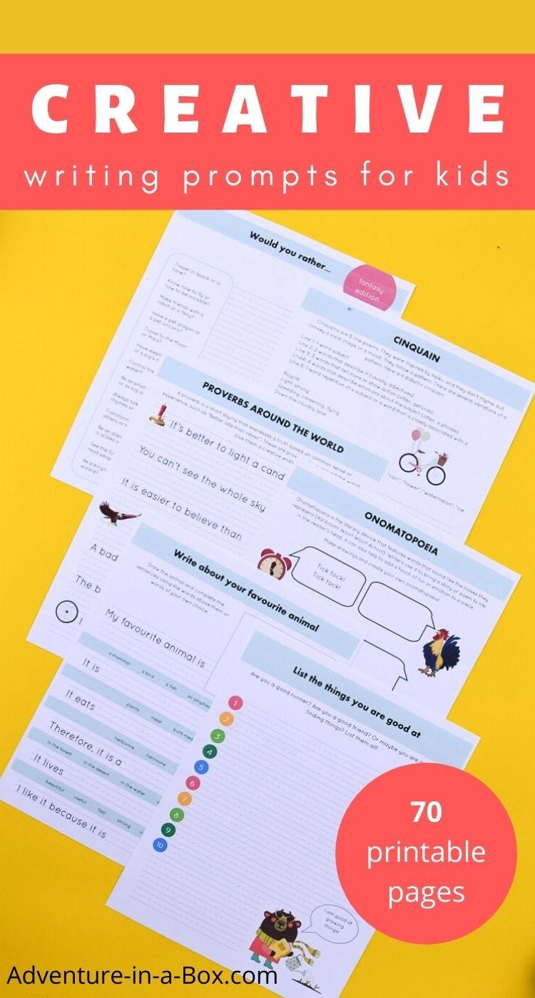 Printable writing prompts for kids