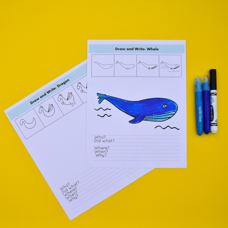 Draw and Write Prompts for Kids
