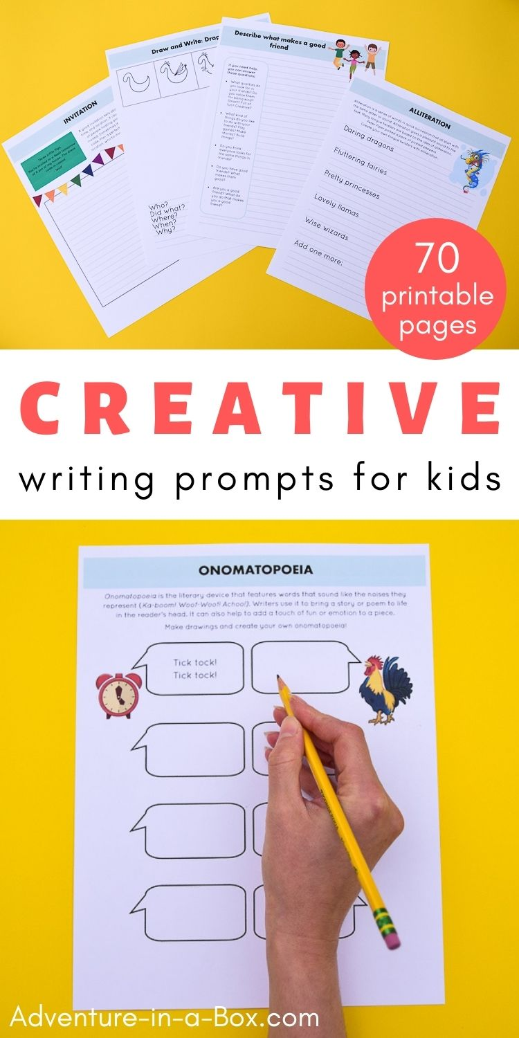 70 Printable Creative Writing Prompts for Kids
