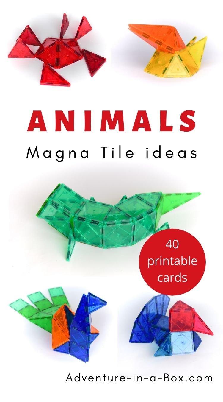Animals: Magna Tile Idea Cards