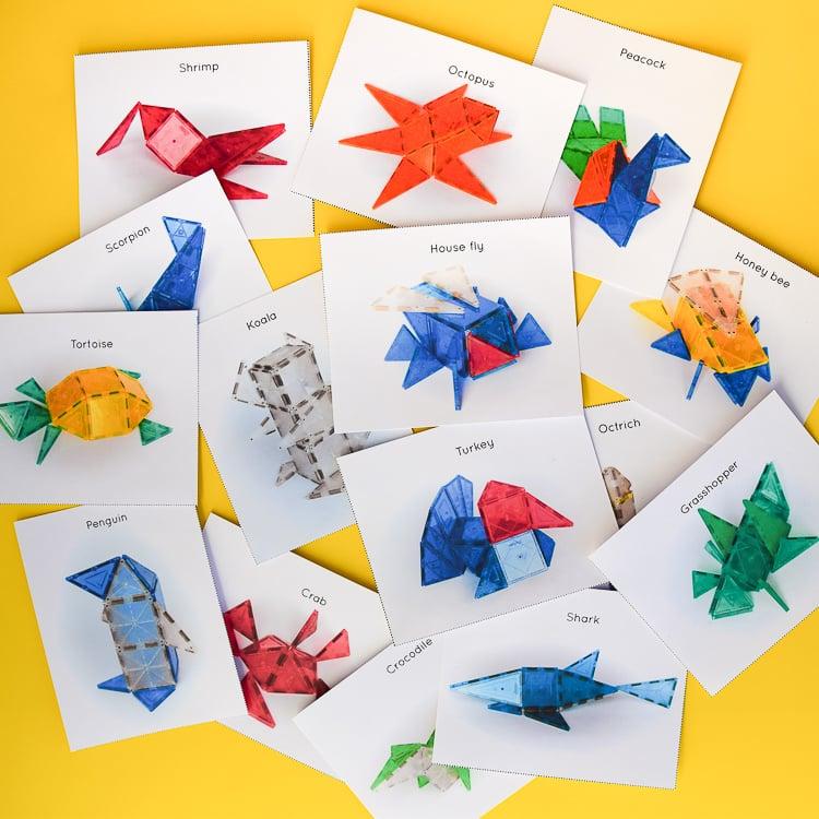 40 printable Magna-Tile cards