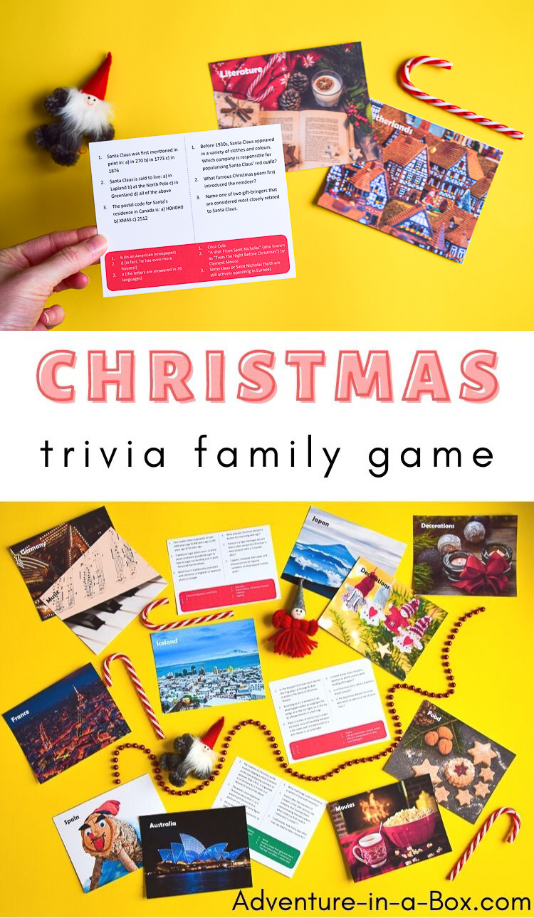 Printable Christmas Trivia game for kids