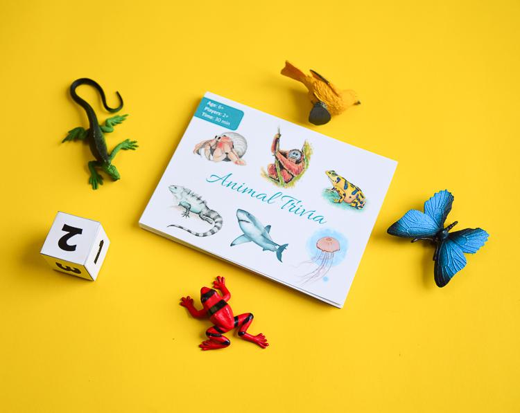 Animal Trivia card game pack