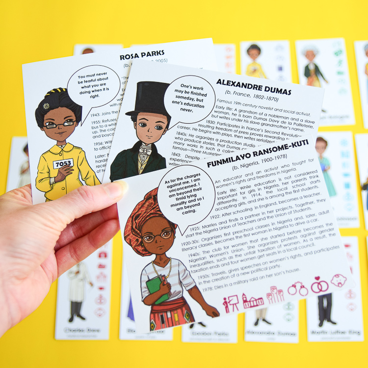 Black History Guess Who Game Cards