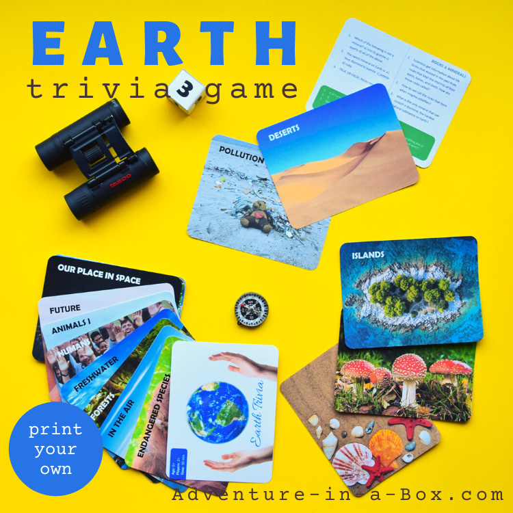 Earth trivia game with questions for kids