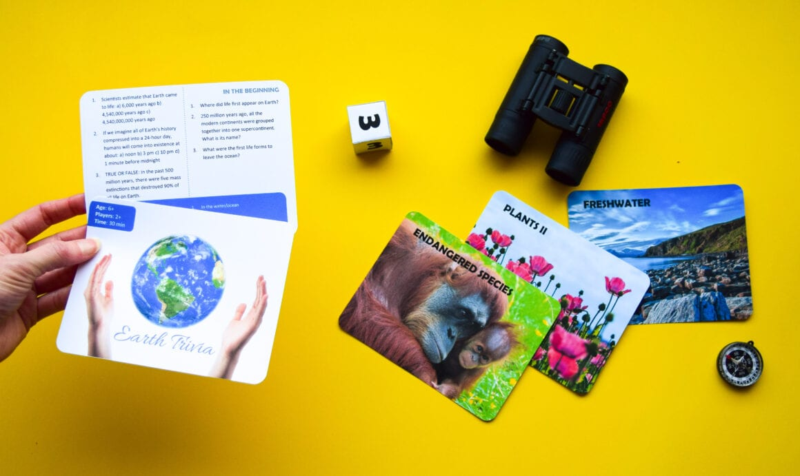 Earth trivia game for kids
