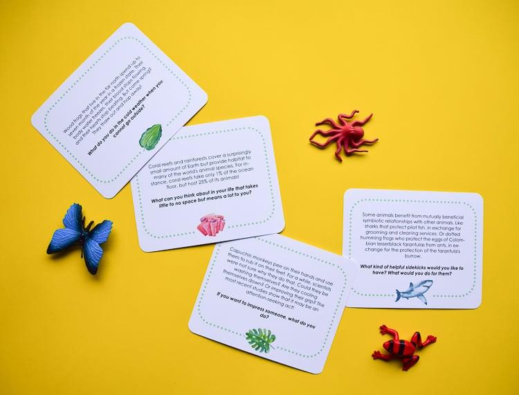 4 conversation starter cards